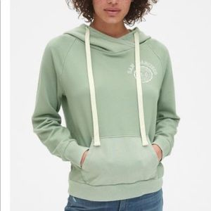 GAp hoodie San Francisco Bay Area-sage color- M